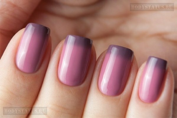 Термо гель лак: дизайн ногтей меняет цвет